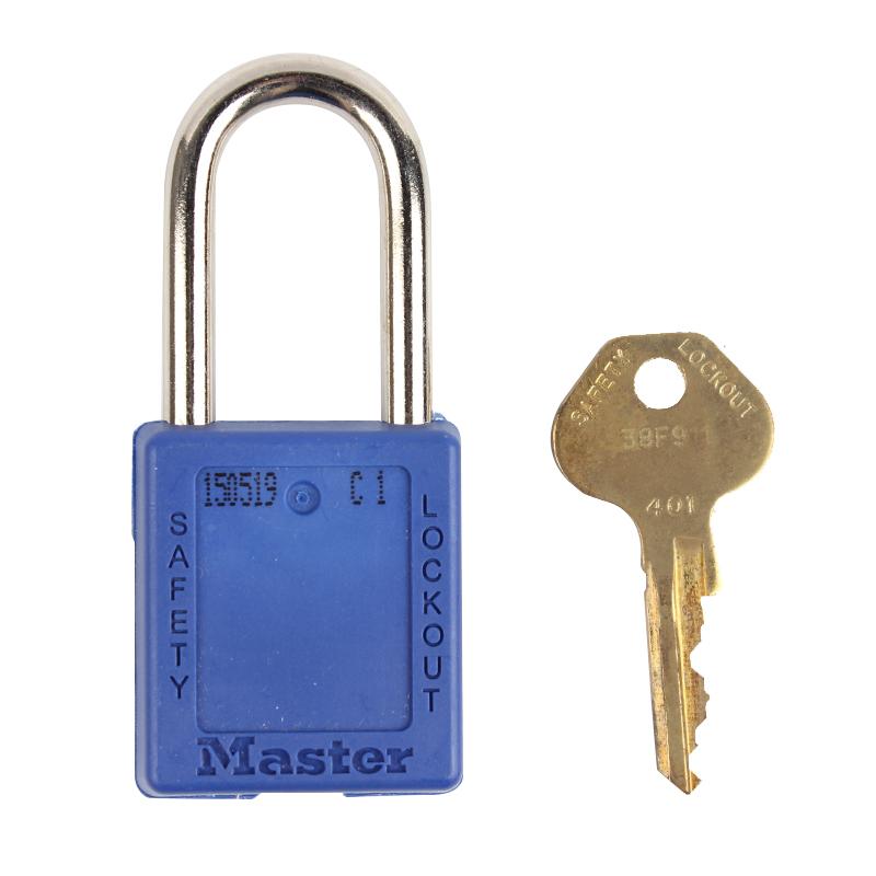 玛斯特 410MCNBLU 工程塑料安全锁封面