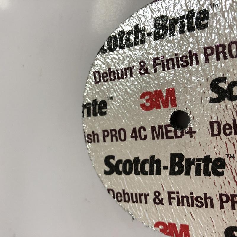 3M 77111 DFUW 3英寸X0.25英寸X0.25英寸抛光筒形砂轮叠合尼龙轮