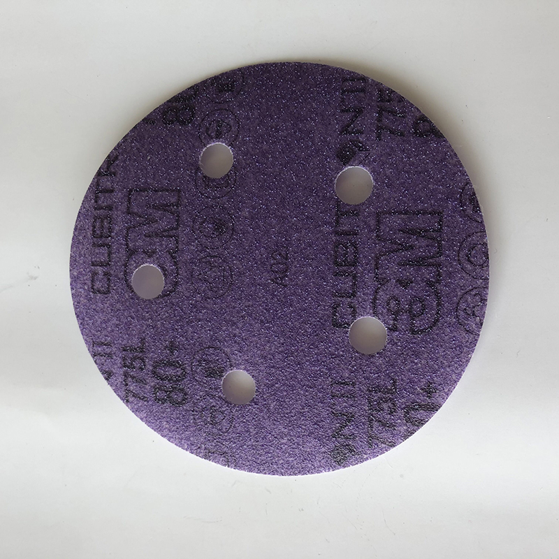3M 775L 220+五孔抛光砂轮片背绒砂碟片125mm