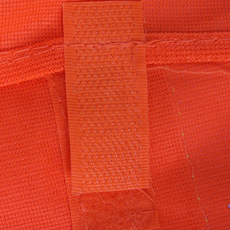 桔红布反光马甲(黄色反光条 前二后二)
