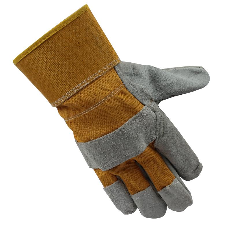 黄布二层全掌手套
