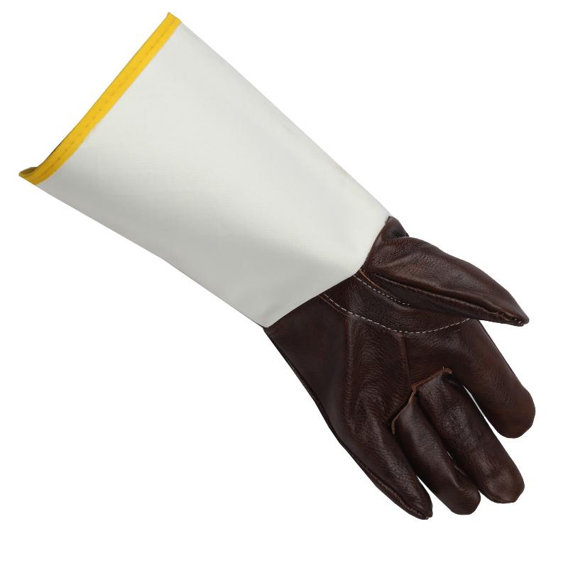 深色大袖电焊手套