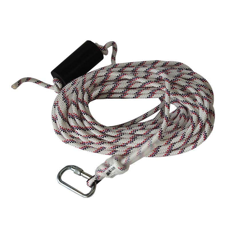 霍尼韦尔1007615 10.5mm 低伸缩安全绳配有1 个安全钩和1 个重锤30 米安全绳