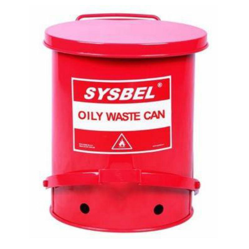 西斯贝尔WA8109700 防火垃圾桶21G/79.3/红色