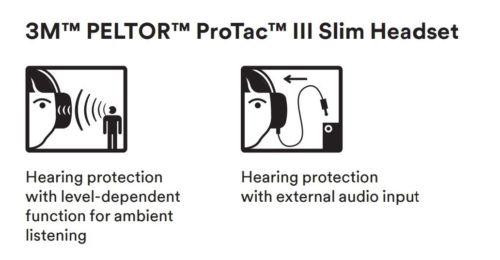 3M MT13H221A PELTOR ProTac III高降噪版耳罩 黑色 头带式