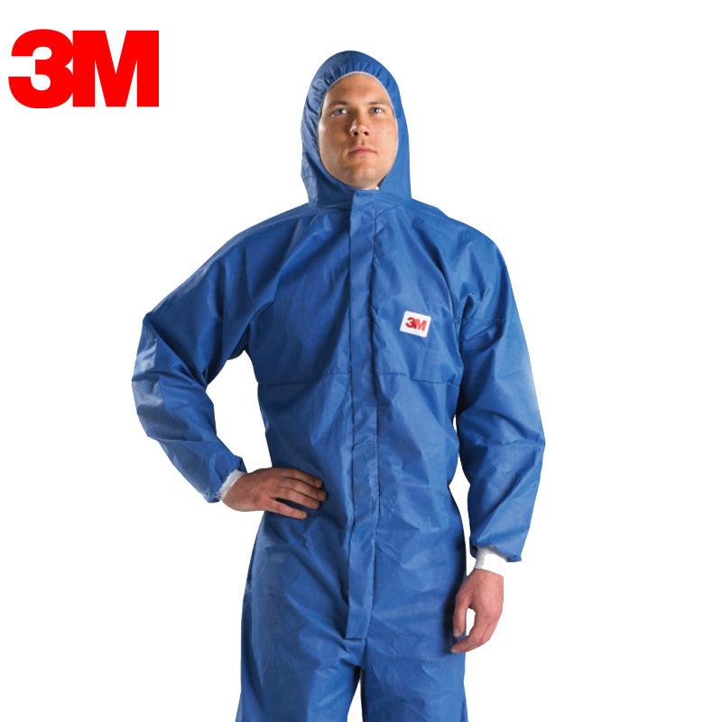 3M 4532+蓝色带帽连体防护服M封面