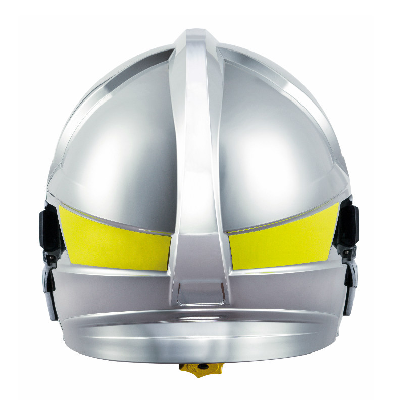 梅思安10166659消防头盔 F1XF 大号 镍色 带电筒支架