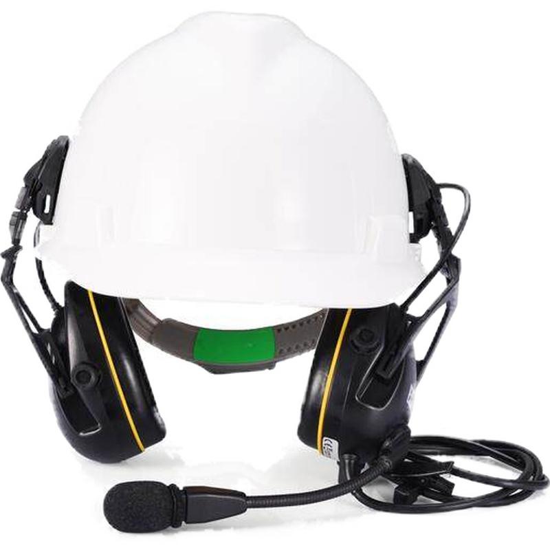 梅思安 SOR45532 有线型电子防噪音智能耳罩(帽盔式)-M