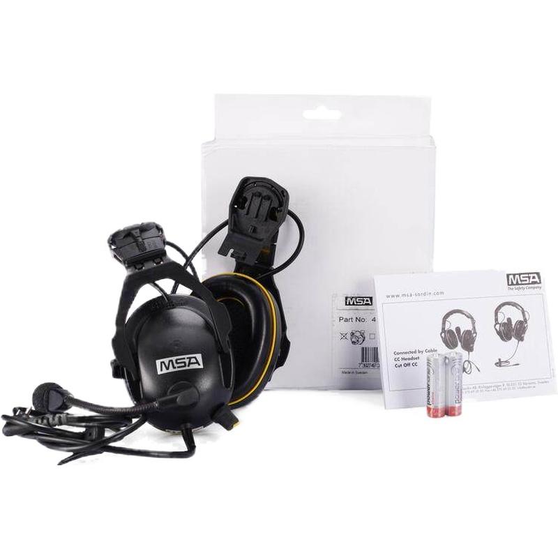 梅思安 SOR41522 有线型电子防噪音标准耳罩(帽盔式)-K