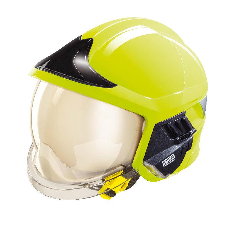 梅思安10158870 消防头盔 F1XF 大号 黄色 带照明模组