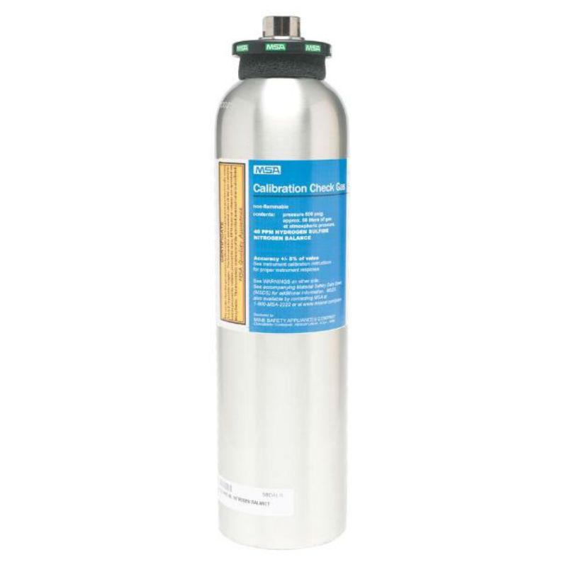 梅思安10117738 进口标气  10ppm SO2 / 20ppm H2S / 60ppm CO / 1.45%CH4 / 15%O2标定气