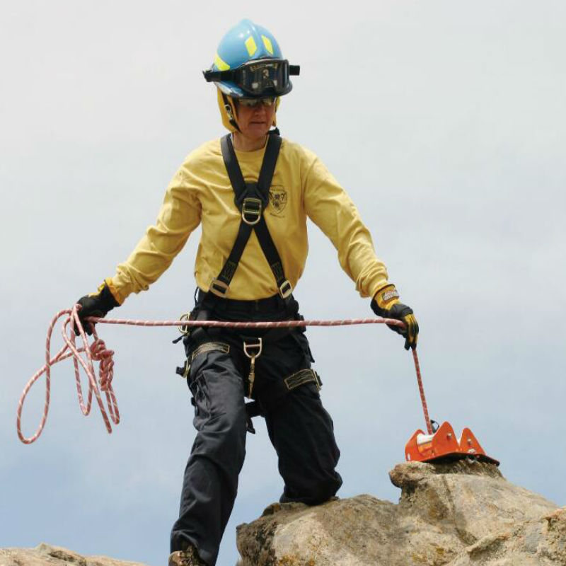 梅思安 SRP508960100 营救绳直径16毫米 尼龙材质 黑色 载荷5897kg 绳长30米
