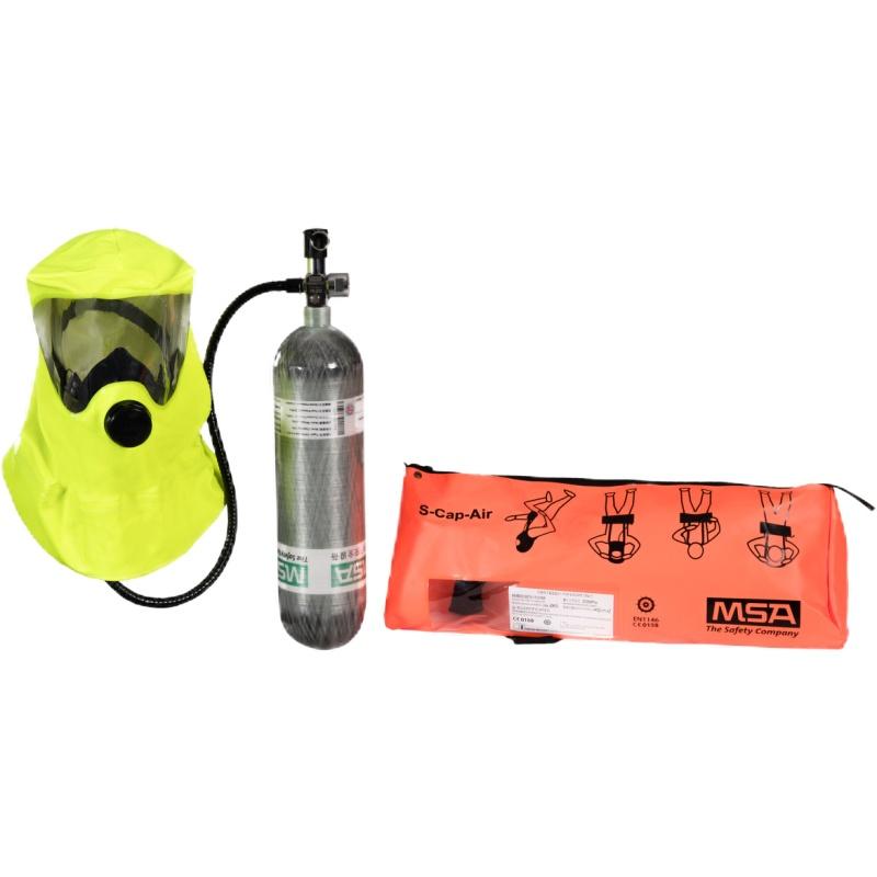 梅思安 10158152 供气式逃生呼吸器 S-Cap-Air 3L气瓶 气瓶压力20MPa 15分钟逃生(代替10148993)
