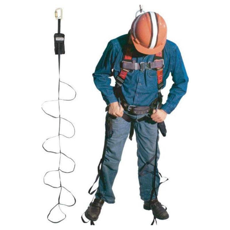 梅思安10063431自救踏步带 黑色 可收放织环带(带连接锁)