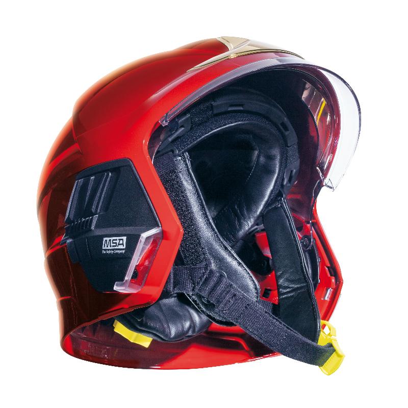 梅思安 10158942 F1XF基础款消防头盔 红色 大号