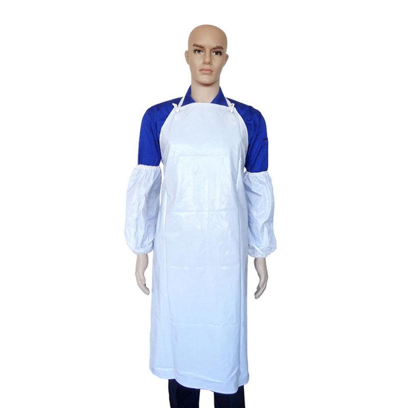 PVC白耐油围裙2580110