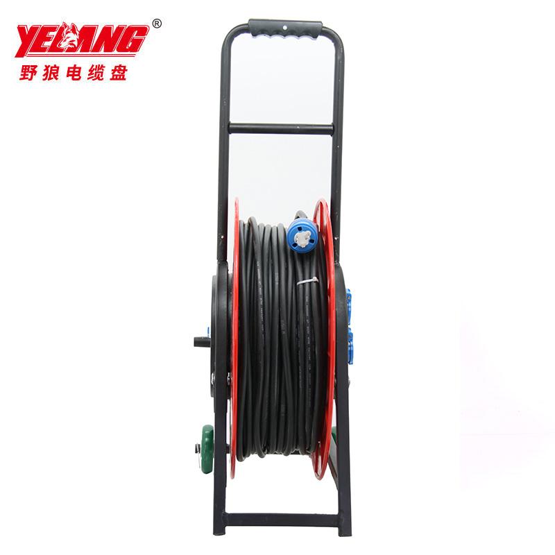 野狼YL-50CFS-03100轮车式移动电缆盘 电缆卷盘 绕线盘 2*1.5 -100米