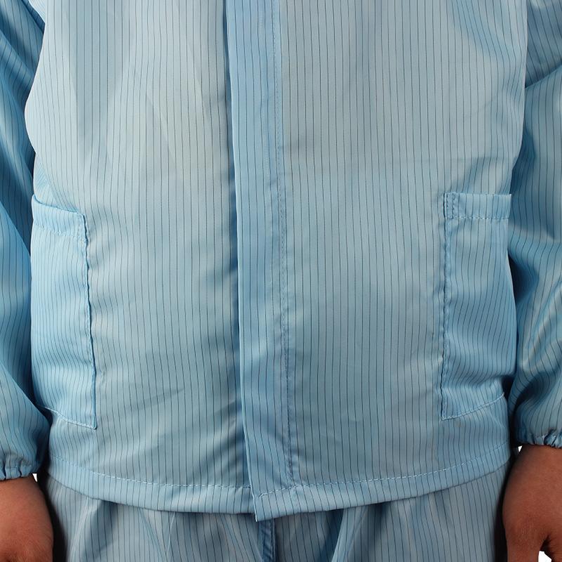 百劳汇86-012蓝色防静电分体衣带帽-S