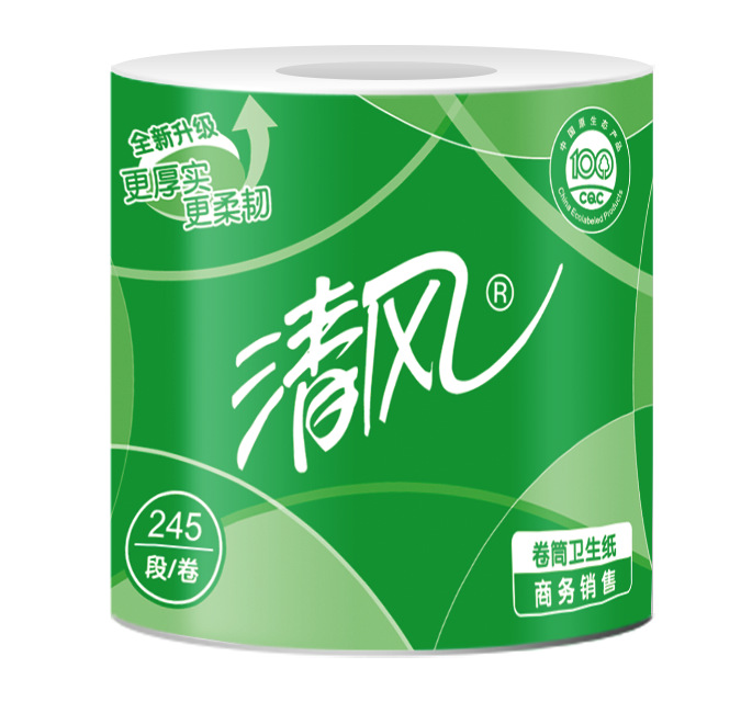 清风B22AA3S 3层平纹245段卷筒卫生纸
