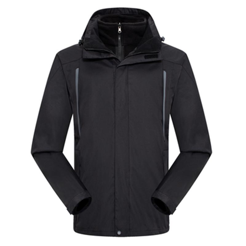 林肯狼CB92男女通款两件套防寒冲锋衣黑色-XXL