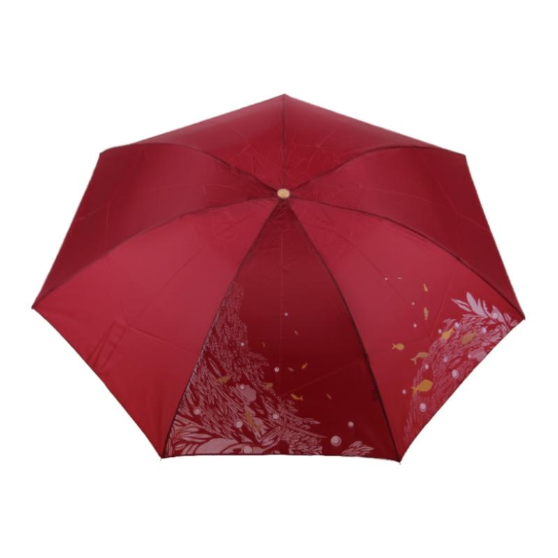 天堂339丝印雨伞-红色