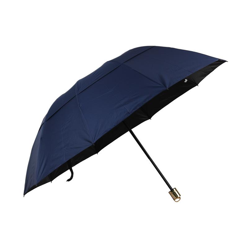 春和3751防风黑胶雨伞
