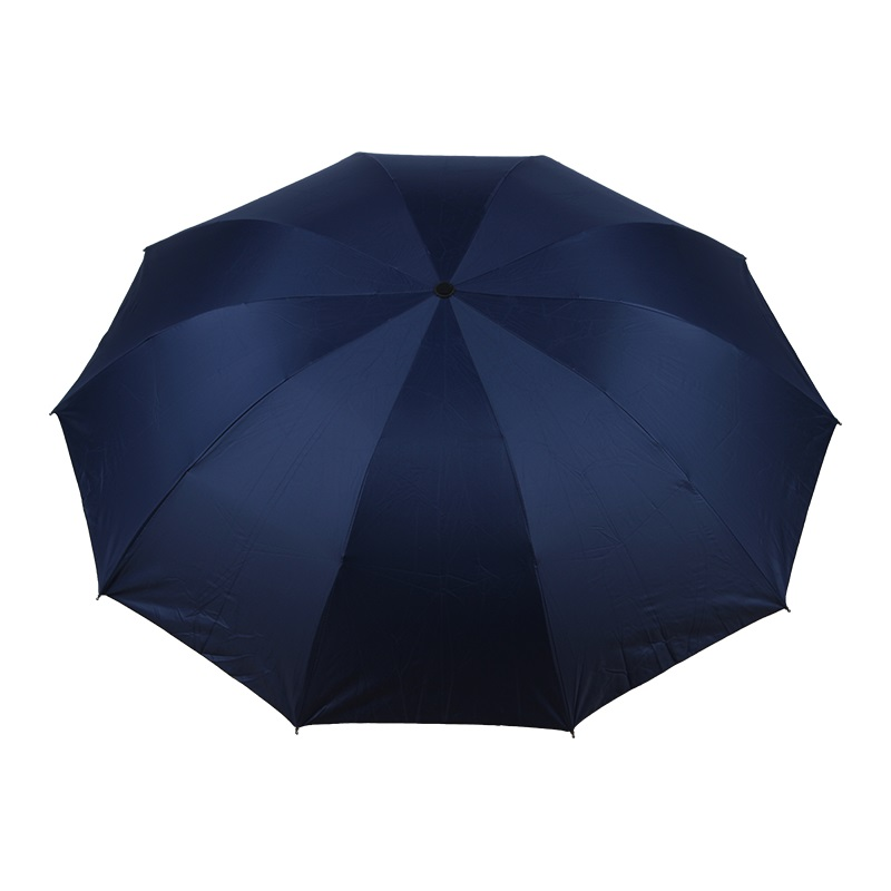 春和3701素色黑胶雨伞-黑色