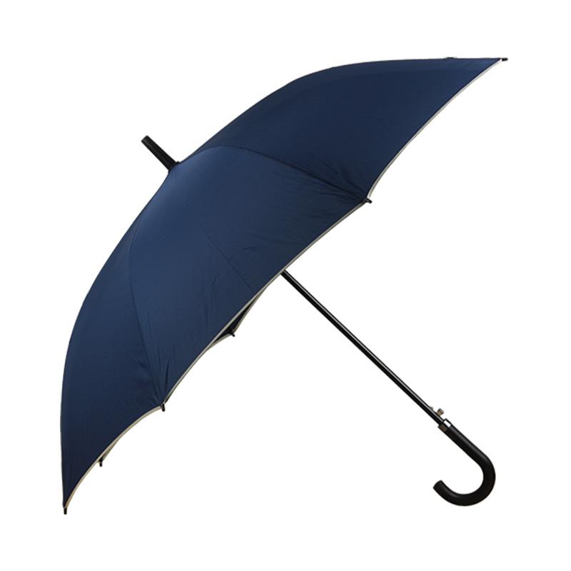 春和7081碰起双骨包边雨伞-藏青色