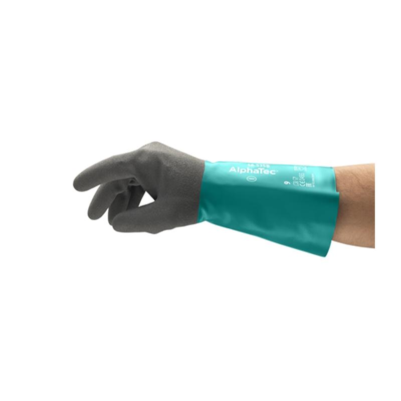 安思尔Ansell 58-535B-9 特殊防滑防化丁腈手套-9
