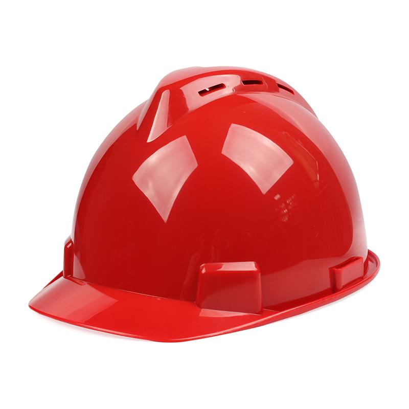 固安捷1501 豪华v型PE带透气孔按键式安全帽