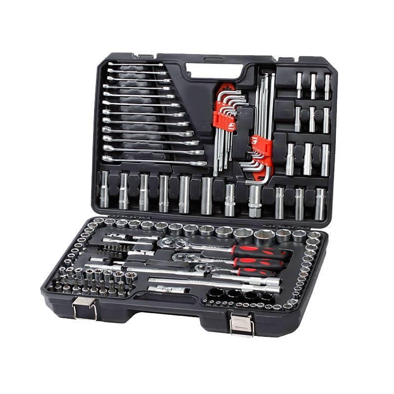 卡夫威尔 6.3mm+10mm+12.5mm汽修套筒组套工具箱套装,155件套,SS9155A
