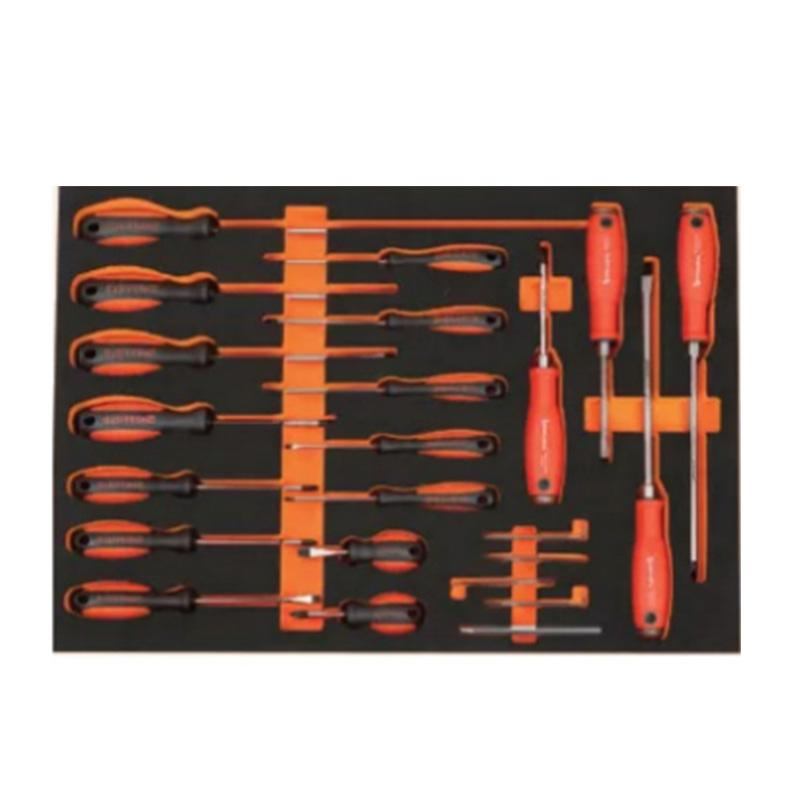 钢盾 22件螺丝批工具托组套 S025048