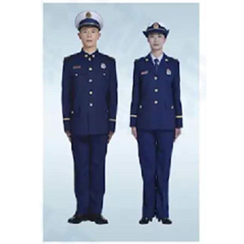 际华 消防员冬季常服全套,含帽子、腰带、皮鞋、肩章、胸章、袖章、帽徽等
