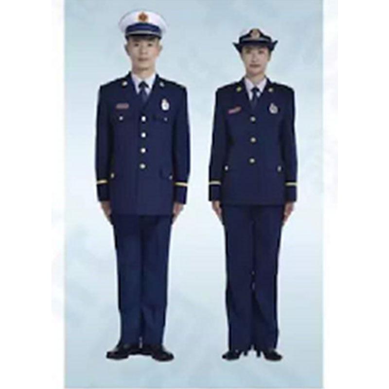 际华 消防员春秋常服全套,含肩章、胸章、袖章、帽徽等