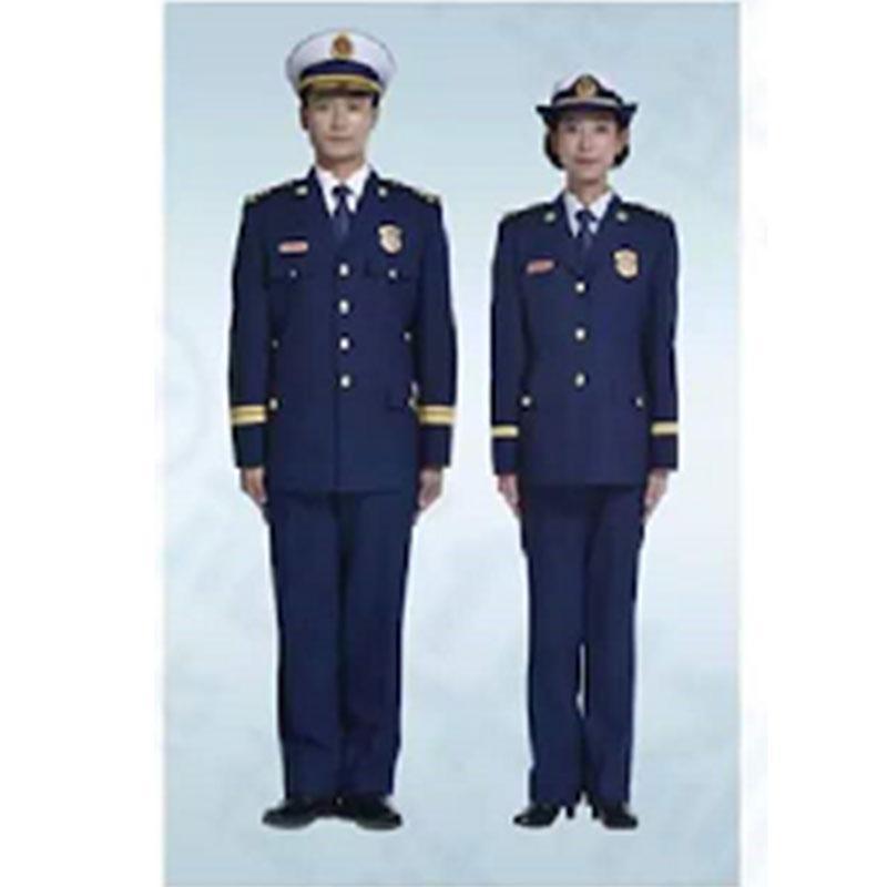际华 消防干部(指挥员)冬季常服全套,含肩章、胸章、袖章、帽徽等