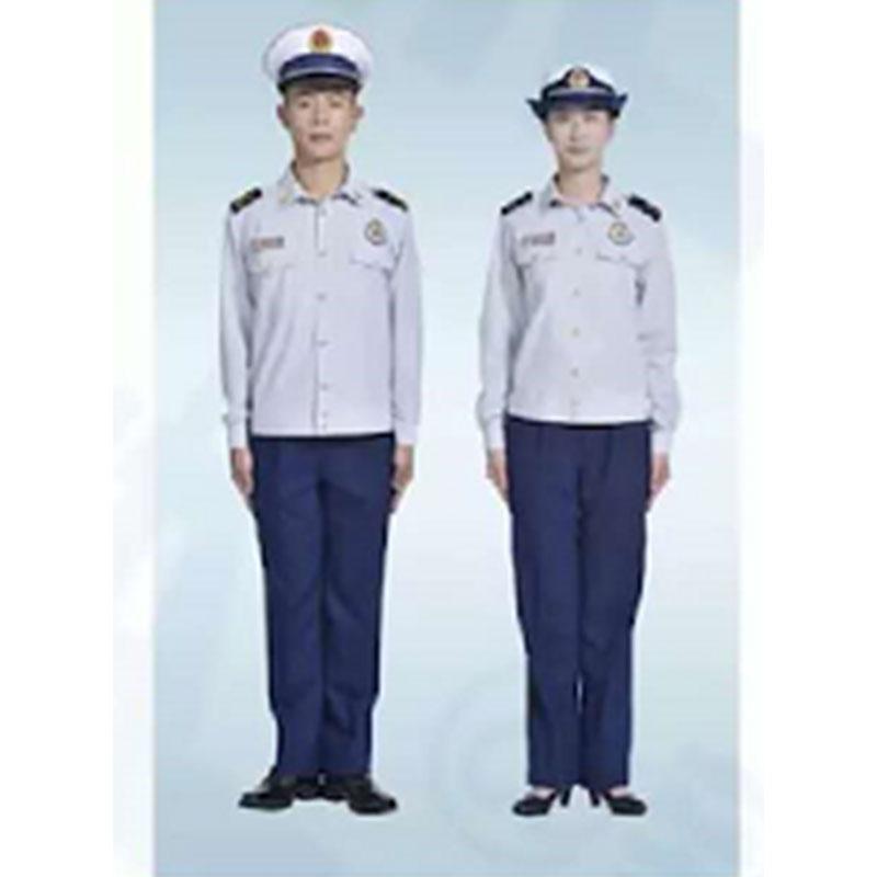 际华 消防员长袖夏常服全套,含肩章、胸章、袖章、帽徽等
