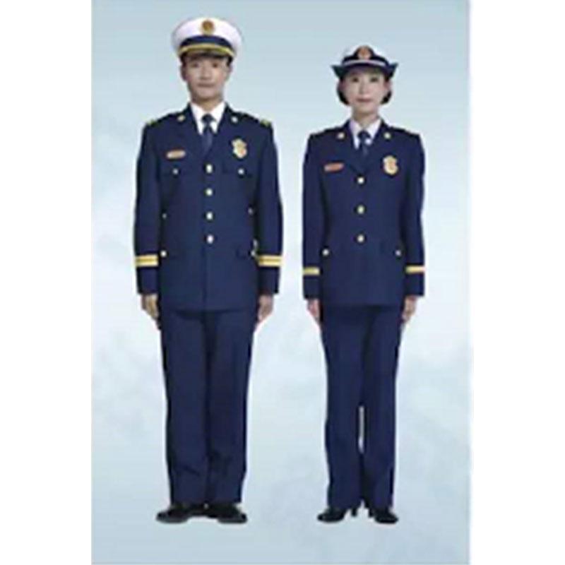 际华 消防干部(指挥员)春秋常服全套,含肩章、胸章、袖章、帽徽等