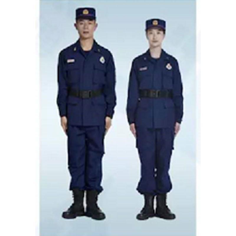 际华 消防员夏季作训服全套,含肩章、胸章、袖章、帽徽等,尺码170