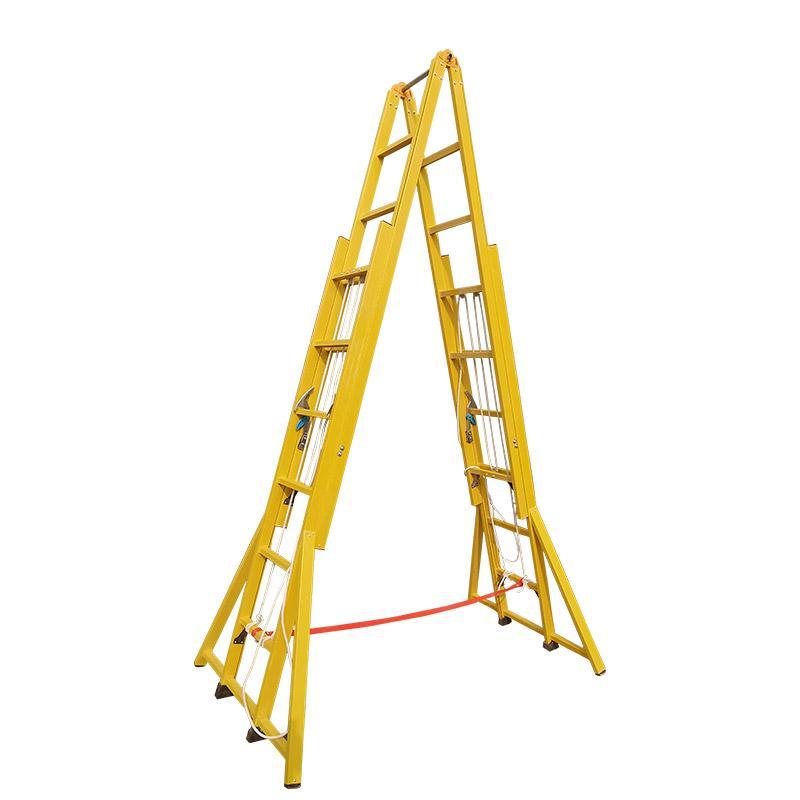 联护电力 6米人字工程梯 电工绝缘梯子 工程登高升降梯 现做