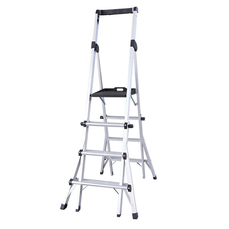 瑞居 伸缩折叠梯,额载(kg):135 最大阶数:6阶 最大平台高度(cm):168,YQSST-1120
