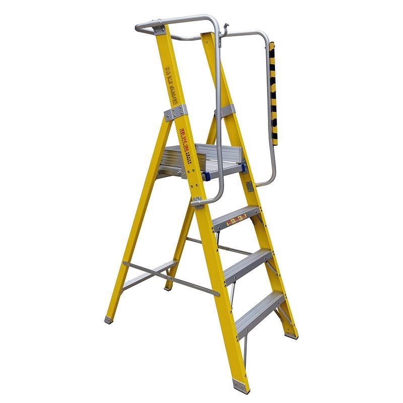 绝缘平台梯,平台尺寸40*40cm 平台高度150cm 梯子高度243cm