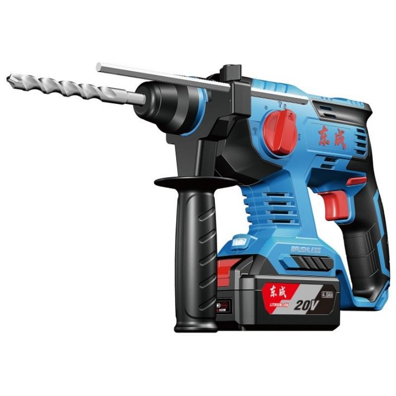 东成充电式电锤,混凝土22mm,2.6kg,冲击频率0-4500/min,20V 4.0Ah电池 两电一充,DCZC22B
