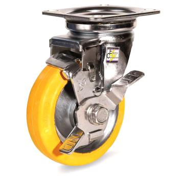 南星 防静电中型橡胶万向轮带刹,5005-2-T1-VE