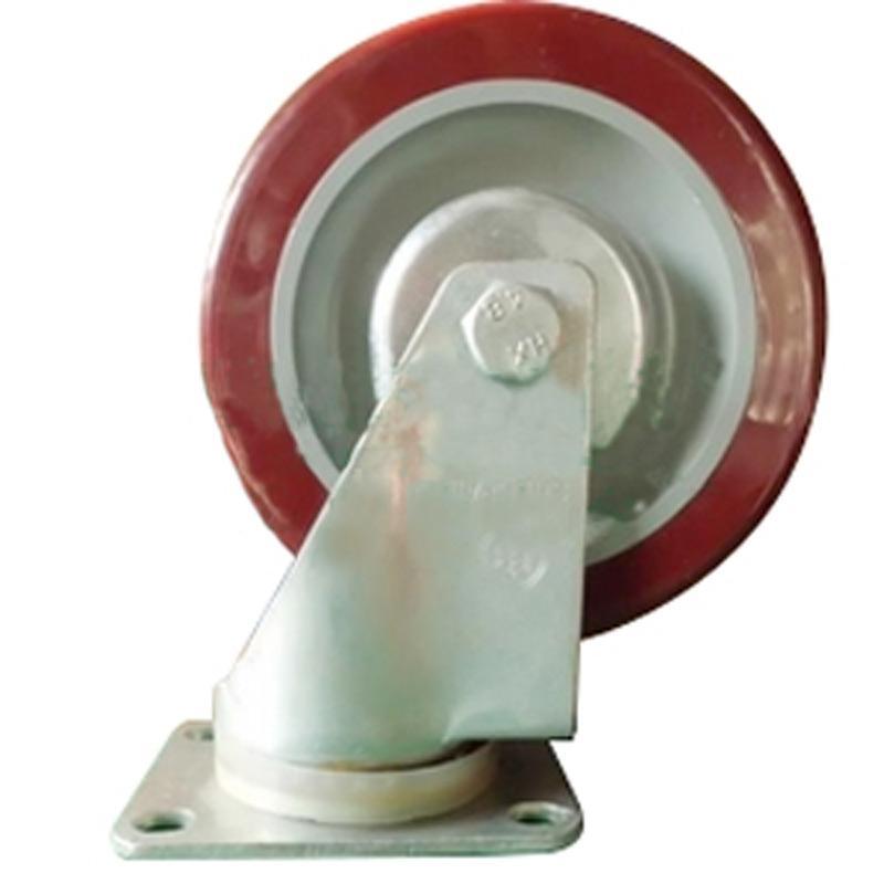 申牌 3.5寸聚氨酯中型脚轮 平底万向 载重(kg):115 轮宽(mm):32 全高(mm):120,20A10-1015