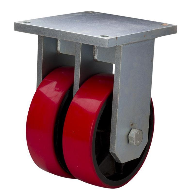 易得力(EDL) 定向高强度聚氨酯(TPU)脚轮,脚轮重磅10寸3000kg,951010-9510-86T