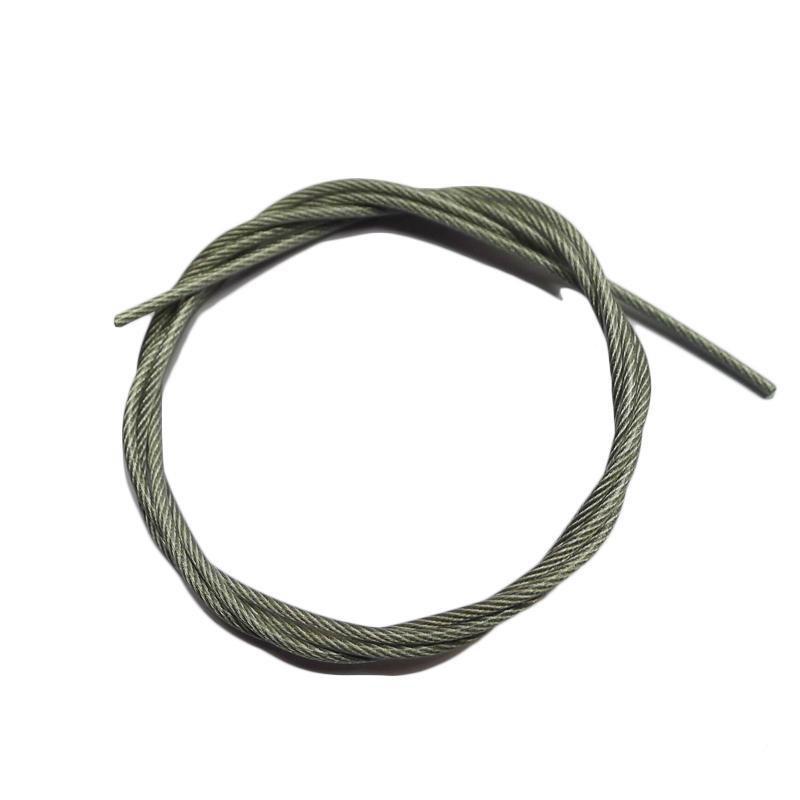 包塑钢丝绳,镀锌钢丝绳Φ2mm 包塑后Φ3mm