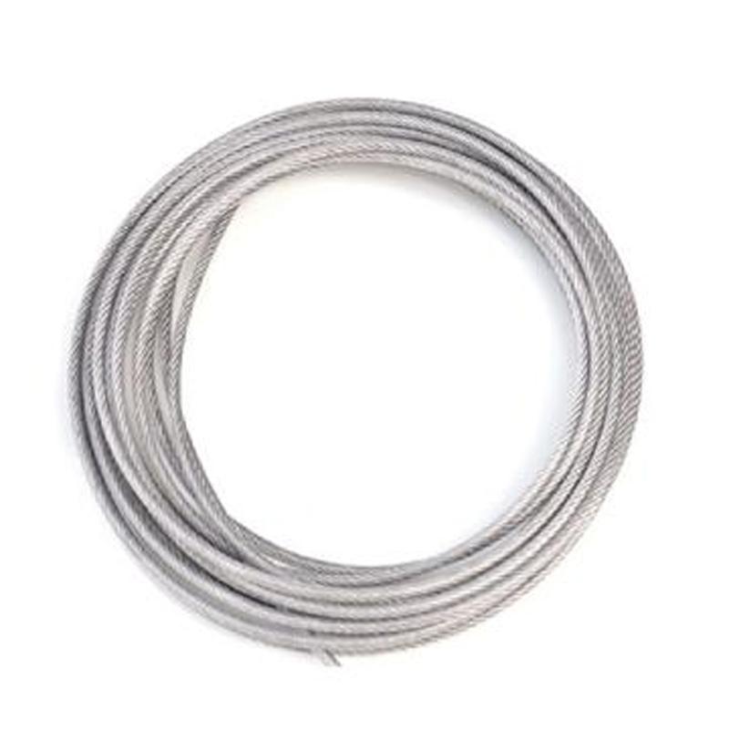 304不锈钢包塑钢丝绳,钢芯φ4mm,包塑后φ5mm,1000米/卷