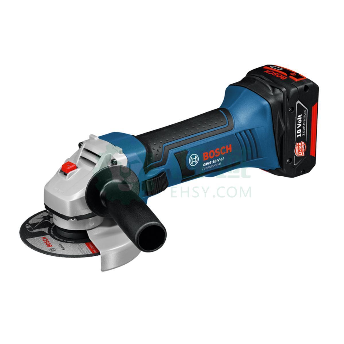 博世Bosch充电式角磨机GWS180-Li/100,2*6.0Ah套装,GWS180-Li-6.0Ah套装