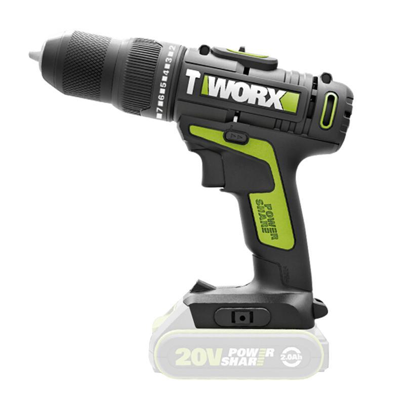 威克士 充电式冲击钻, 夹持10mm,20V裸机, WU179.9