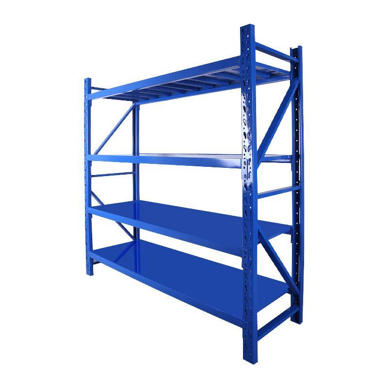 Raxwell 层板货架主架,4层,200kg,尺寸(长×宽×高mm):1800×500×2000,蓝色,安装费另询